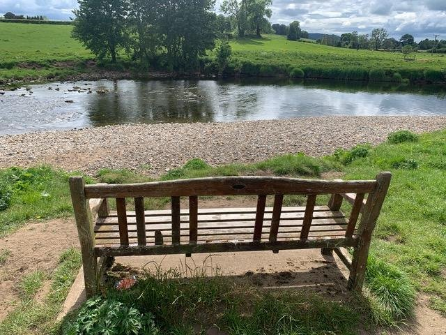 The damaged bench