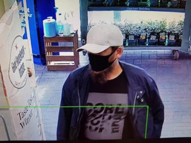 Police wish to trace this man