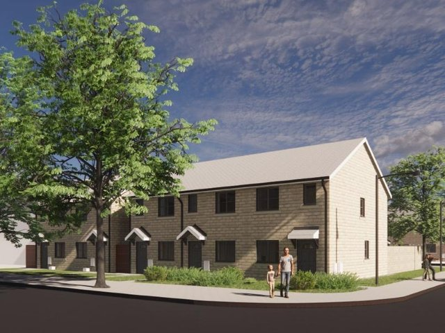 CGI of the Sycamore Avenue homes