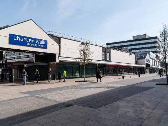 Charter Walk shopping centre in Burnley is now on the market