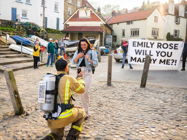 The moment Joey proposed to Emily was captured by Chalkie Bolton Photography