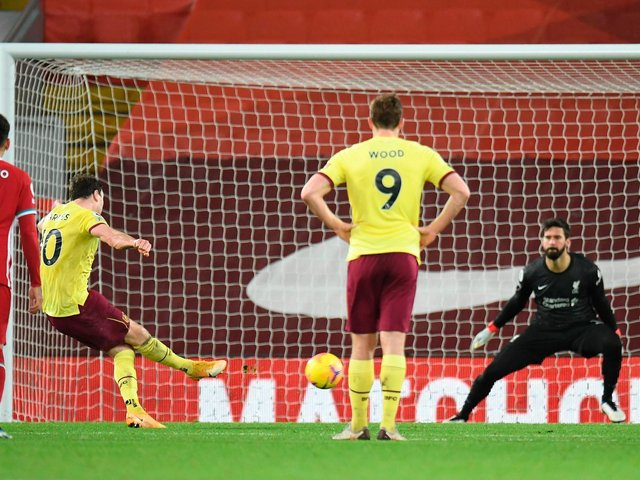 Ashley Barnes scored the winner at Liverpool in January