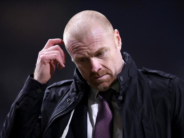 Sean Dyche, Manager of Burnley reacts after the Premier League match between Burnley and Leicester City at Turf Moor on March 03, 2021 in Burnley, England.