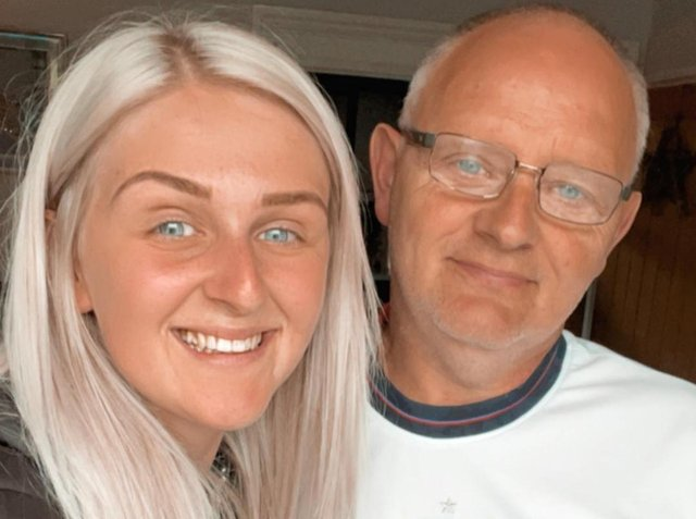 Jodie with her dad Michael whose life she helped to save when he suffered a heart attack followed by a cardiac arrest