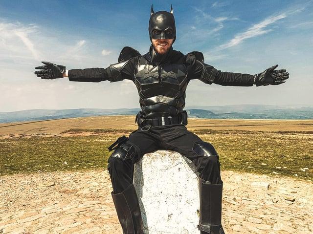 Batman, aka Jack Walsh, at the top of Pendle Hill