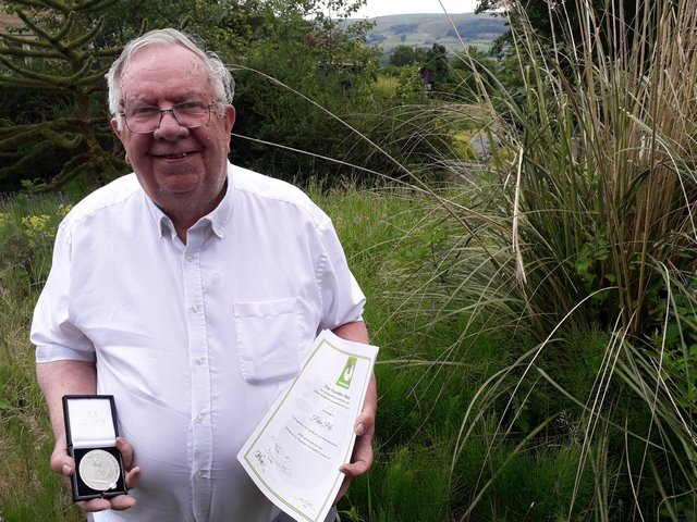 Peter Pike with his Emmaus Founders' Medal