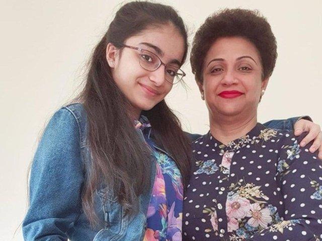 Dr Saman Mir Sacharvi (49) and her 14-year-old daughter, Vian Mangrio.