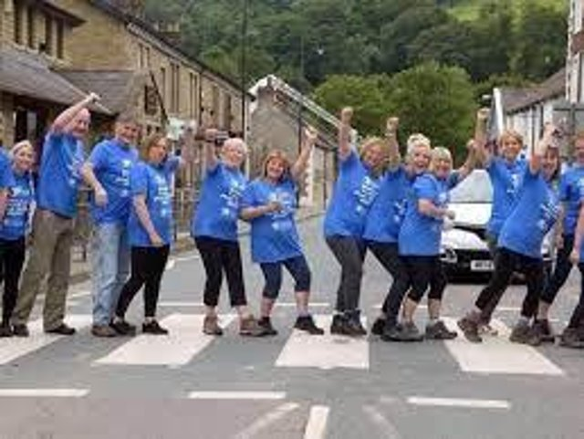 Fundraisers enjoying the pub walk in previous years. Picture: East Lancs Hospice