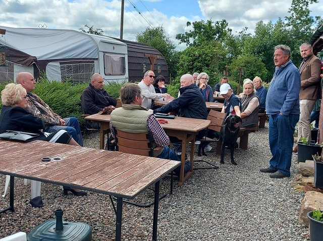 Residents meeting with Pendle MP Andrew Stephenson