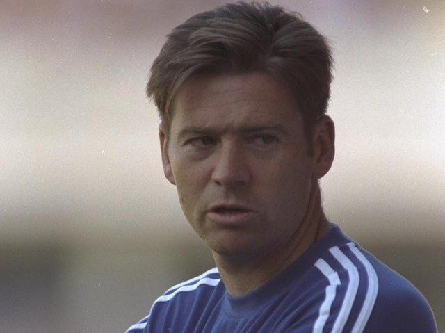 Chris Waddle in the Burnley dugout