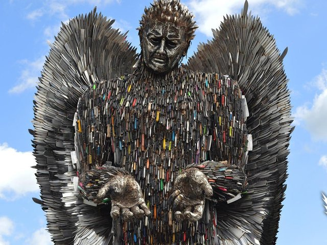 The Knife Angel sculpture will be in display in Lancashire later this year