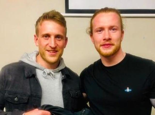 Clitheroe Cricket Club captain Peter Dibb (left) alongside Cole Hayman
