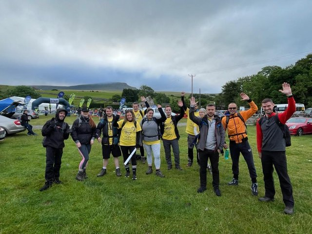 The walkers have raised more than £3,000 for Pendleside Hospice