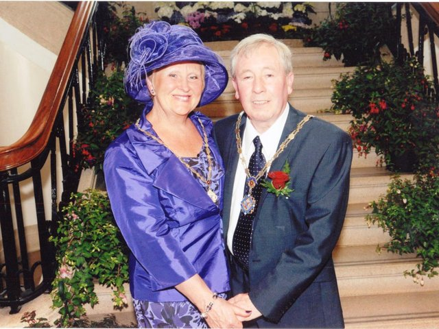 Bob with his wife Ann when the couple became Mayor and Mayoress of Padiham in 2011