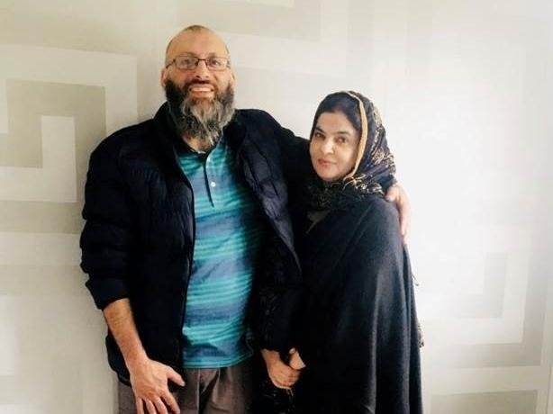 Afaq Ahmed with Ishrat Ahmed.