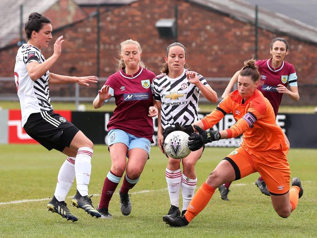 Burnley take on Manchester United in the Womens FA Cup