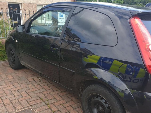 This vehicle, which was showing as having no insurance was seized by police after a short pursuit in Padiham today