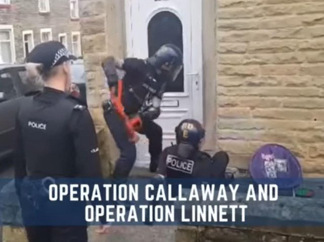Nine people have been arrested following a series of dawn raids across both Lancashire and Manchester in connection with a shooting in Burnley.