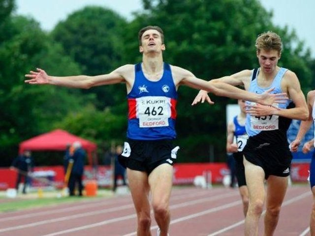 Tiarnan Crorken, left, came out on top at the English Championships last month.