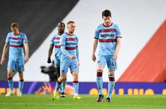 Declan Rice of West Ham. (Photo by Peter Powell - Pool/Getty Images)