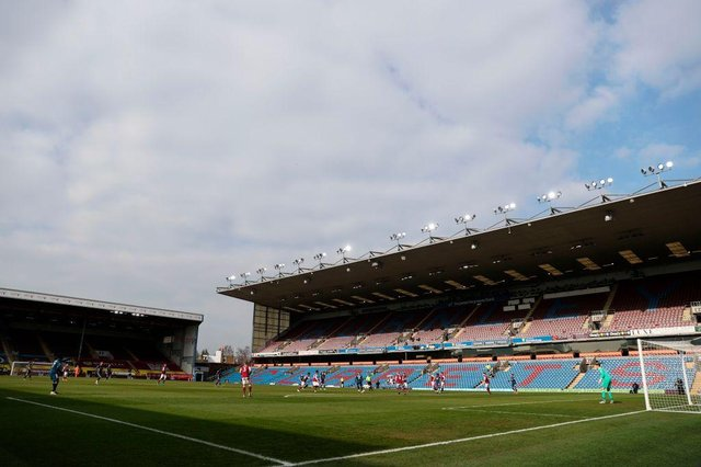 Turf Moor, the home of Burnley Football Club. (Photo by CLIVE BRUNSKILL/POOL/AFP via Getty Images)