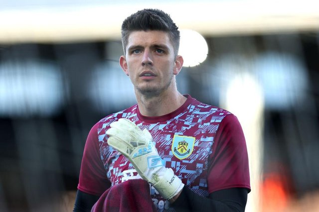 Nick Pope of Burnley. (Photo by Catherine Ivill/Getty Images)