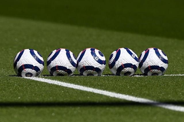 Premier League match balls. (Photo by Facundo Arrizabalaga - Pool/Getty Images)