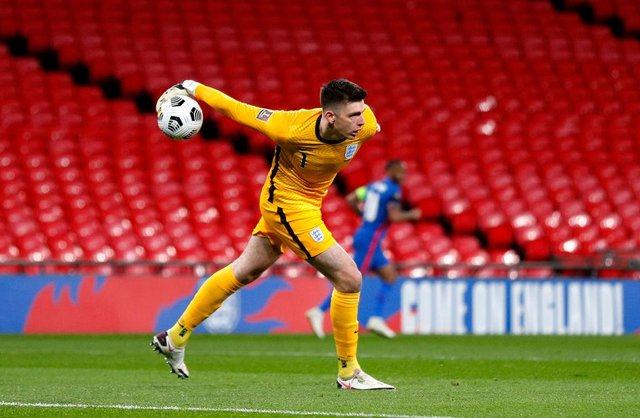 Nick Pope of England.  (Photo by Adrian Dennis - Pool/Getty Images)