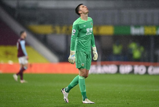 Nick Pope of Burnley.  (Photo by Gareth Copley/Getty Images)