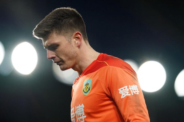 Nick Pope of Burnley. (Photo by Jon Super - Pool/Getty Images)