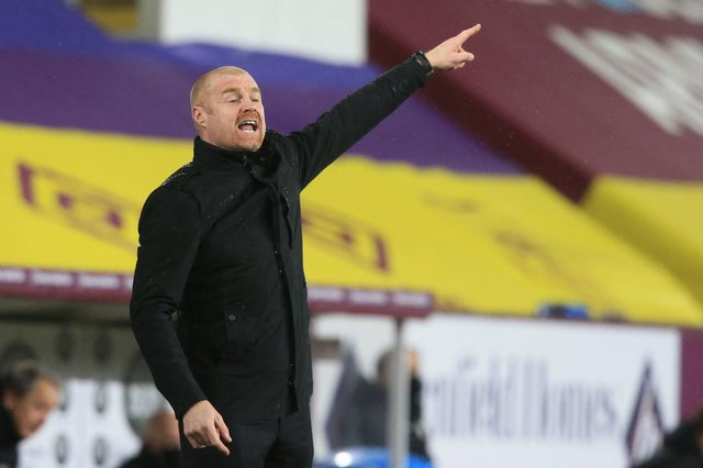 Burnley manager Sean Dyche. (Photo by LINDSEY PARNABY/POOL/AFP via Getty Images)