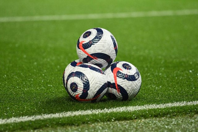 Premier League match ball. (Photo by Oli Scarff - Pool/Getty Images)