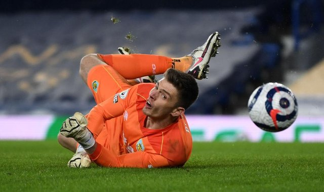 Burnley goalkeeper Nick Pope. (Photo by Gareth Copley/Getty Images)