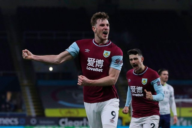 Chris Wood returns to the Burnley starting XI. (Photo by MOLLY DARLINGTON/POOL/AFP via Getty Images)
