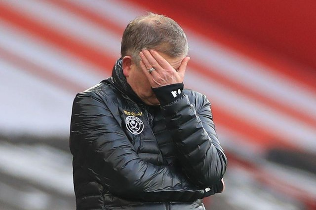 Chris Wilder is set to leave Sheffield United, according to reports. (Photo by MIKE EGERTON/POOL/AFP via Getty Images)